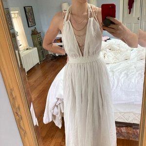 NWOT Love Shack Fancy white flowy maxi dress